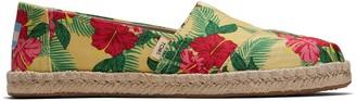 Toms Green Floral Women's Espadrilles