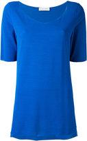 Le Tricot Perugia plain T-shirt - women - Elastodiene/Polyamide/Viscose - M