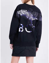 Boy London Flock Eagle cotton-jersey sweatshirt