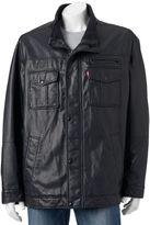 Levi's Big & Tall Faux-Leather Trucker Jacket
