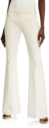 Rosetta Getty Pintucked Flare Jeans