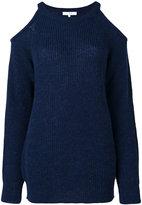 IRO Lineisy cutout shoulder ribbed sweater