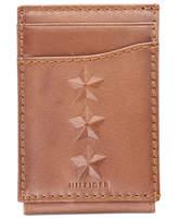 Tommy Hilfiger Men's Virgil Embossed Magnetic Leather Wallet