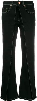 Aalto flared pleated detail jeans