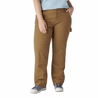 Dickies Size Women's Plus Double Front Denim Carpenter Pants