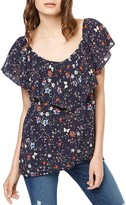 Sanctuary Eva Ruffle Floral Print Top