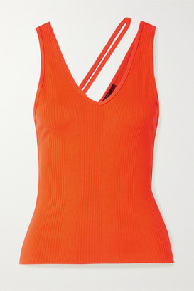 The Range Suspension Ribbed-knit Tank - Orange