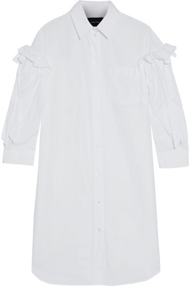 Simone Rocha Ruffle-trimmed Cotton-poplin Shirt Dress