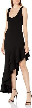 Elliatt Women's Apparel Women's Sleeveless Asymentrical Ruffle Hem Line Shana Maxi Dress