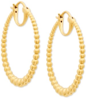 AVA NADRI Medium Graduated Bead Hoop Earrings, 1.25""