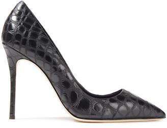 Giuseppe Zanotti Lucrezia 105 Croc-effect Leather Pumps
