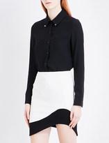 Thierry Mugler Studded crepe shirt