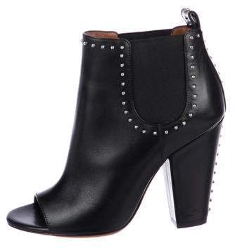 Givenchy Peep-Toe Ankle Boots