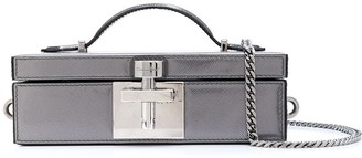 Oscar de la Renta Albi flat box clutch bag