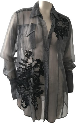 Gianfranco Ferre Grey Silk Tops