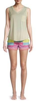 Roudelain Women's Lush Luxe Pocket Tank and Shorts 2-Piece Pajama Set