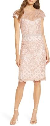 Tadashi Shoji Sequin Lace Cocktail Dress