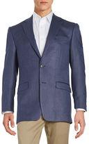 Lauren Ralph Lauren Two-Button Silk and Wool Jacket