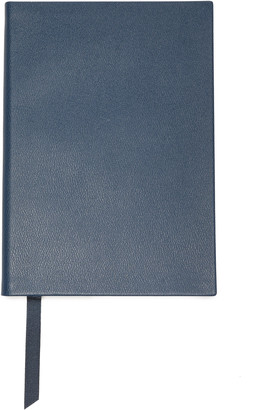 Smythson Soho Textured-leather Notebook