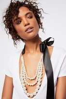 A.V. Max Layered Pearl X Bow Necklace by at Free People