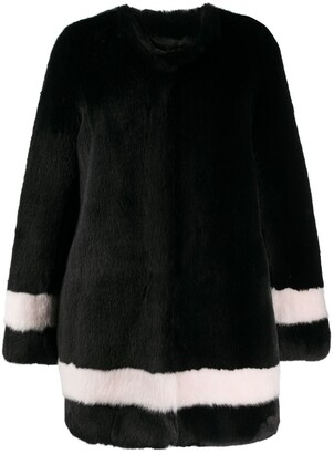 La Seine & Moi Petra faux-fur striped coat