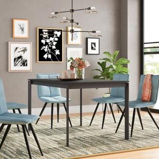 Brayden Studio Layton Metal Legs Extendable Dining Table Brayden Studio