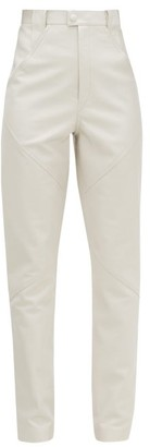 Isabel Marant Xenia High-rise Leather Trousers - White