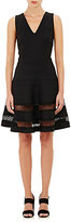 Barneys New York Women's Eyelet-Trimmed Sleeveless Dress-Black