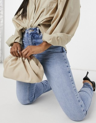 My Accessories London slouchy pillow clutch in stone