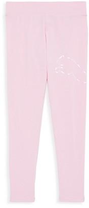 Puma Girl's Logo Stretch Cotton Leggings