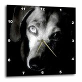 3dRose LLC Dachshund Portrait Wall Clock, 10 by 10-Inch
