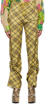 Dries Van Noten Yellow Check Lounge Pants