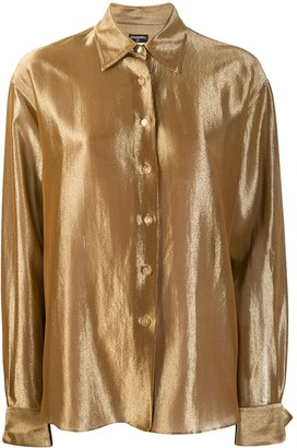 Chanel Pre Owned 1990s Metallic Shirt