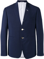 Thom Browne stitch blazer - men - Cotton/Mohair/Wool - 0