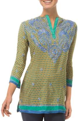 Gretchen Scott Silk Embroidered Tunic