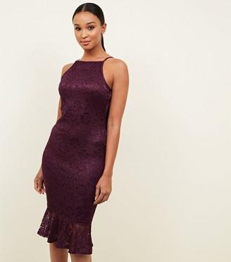 New Look AX Paris Lace Frill Hem Dress