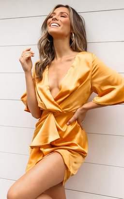 Showpo Spread Your Love dress in tangerine satin - 6 (XS) Dresses