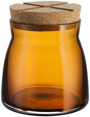 Orrefors Kosta Boda - Bruk Clear Jar with Cork Lid - Amber - Medium