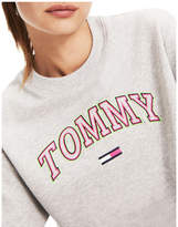 Tommy Jeans Recycled Neon Logo Cropped Jumper