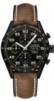 Tag Heuer Carrera Chronograph Leather Strap Watch