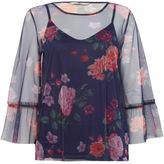 Tu clothing Multi Coloured Floral Mesh Tee
