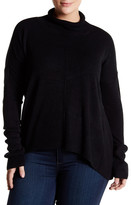 Sweet Romeo Hi-Lo Mock Neck Sweater (Plus Size)