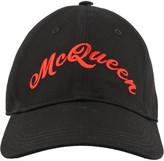 Alexander Mcqueen Americana Logo Baseball Cap