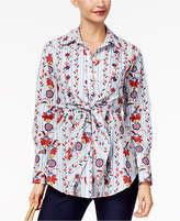 NY Collection Tie-Front Top