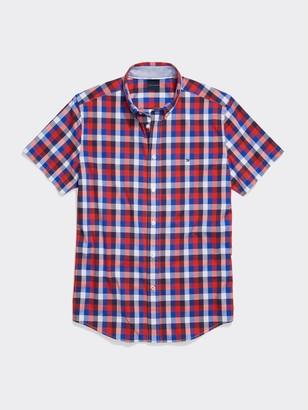 Tommy Hilfiger Slim Fit Short Sleeve Plaid Shirt