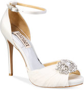 Badgley Mischka Tad Peep-Toe Evening Sandals