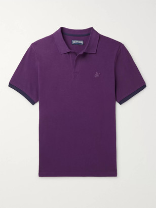 Vilebrequin Palatin Slim-Fit Contrast-Tipped Cotton-Pique Polo Shirt