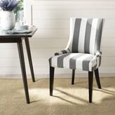Abby Linen Upholstered Side Chair in Espresso Brayden Studio Color: Espresso