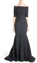 Carolina Herrera Women's Off The Shoulder Textured Trumpet Gown