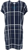 Vince v-neck checked dress